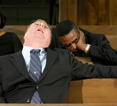 Image result for people asleep in church