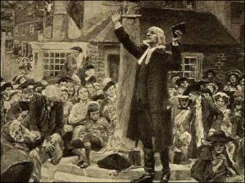 John Wesley Preaching at Epworth Market Cross